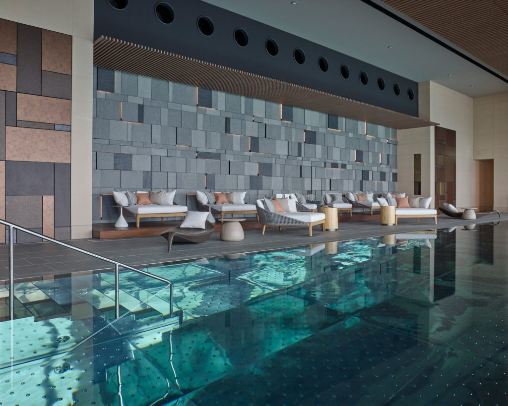 The vitality pool at the spa in Four Seasons Tokyo at Otemachi